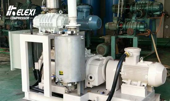 化工精馏用罗茨-螺杆干式真空机组应用实例