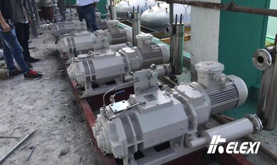 绍兴化工企业5台珂勒曦减压蒸馏真空泵就位
