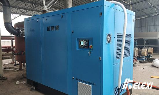 丽水汽车配件生产线用喷油螺杆真空泵顺利上线