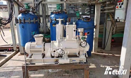 镇江药企有机溶剂回收应用干式螺杆真空泵启用